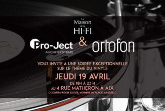 La Maison de la Hi-Fi reçoit Pro-Ject et Ortofon.